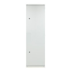 Steel Door 1-Part for Standard Cabinet 42U, Width 600 mm, 2 x Latch, RAL7035