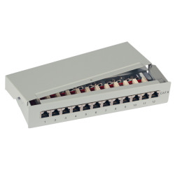 Mini Patchpanel 12xRJ45 Cat.6, 1HE