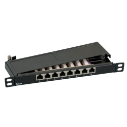 Mini-Patchpanel STP 8xRJ45 Cat.6A, 10