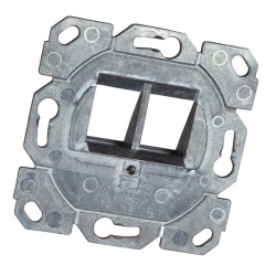 Keystone Frame revolving 2-Port, for Keystones, design capable TAE