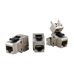 RJ45 Keystone STP, Cat.6A, 500MHz, components certified