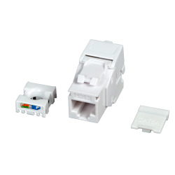 ECOLAN® RJ45 Keystone UTP, Cat.6A, 500MHz, components certified