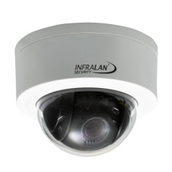INFRALAN® Security 3MP Vandal Dome Mini PTZ IP Innen/Außenkamera, Motorzoom