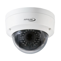 INFRALAN® Security 4MP Vandal-Dome IP Innen/Außenkamera, PoE, DC12V, Motorzoom