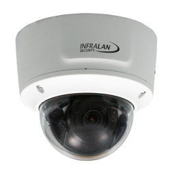 INFRALAN® Security 8MP Vandal Dome, IP Innen/Außenkamera, PoE, DC12V, Motorzoom