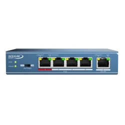 INFRALAN® Security PoE+ Switch 4x100MBit