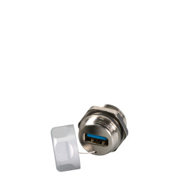 IP67 Metal adapter, M20, USB3.0, F-F, A-A, guy rope