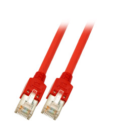 RJ45 Crossover Patchkabel SF/UTP, Cat.5e, TM11, UC300, rot