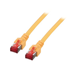 RJ45 Patchkabel S/FTP, Cat.6, LSZH, gelb