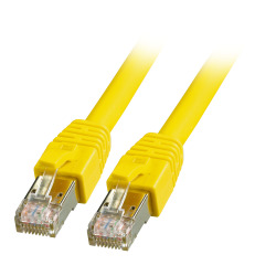 RJ45 Patch cable S/FTP, Cat.8.1, BC, yellow