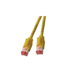 RJ45 Patchkabel S/FTP, Cat.6A, TM21, UC900, gelb