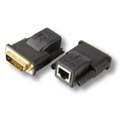 DVI-D Mini Extender-Set 1xRJ45 Cat.5/6/7 bis zu 15 m