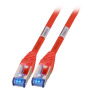 RJ45 Patchkabel S/FTP, Cat.6A,500MHz, 1. 5m, rot