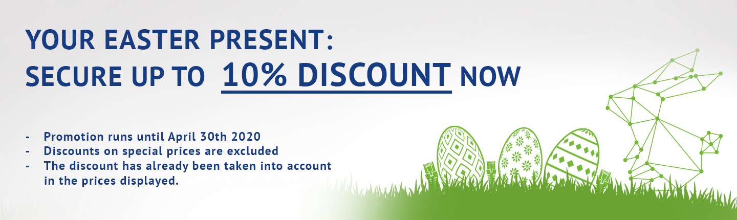 Your easter present: secure up to 10% discount now